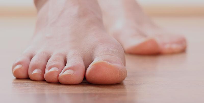 bule på oversiden af foden